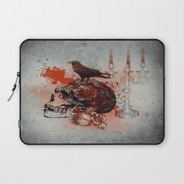 Skull and Crow Tattoo Laptop Sleeve