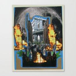 Burning Chair Canvas Print