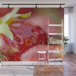 Fresh organic strawberries Wall Mural