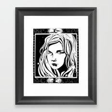 With Stars In Her Hair Framed Art Print