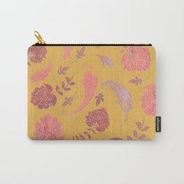 Paradise Patterns - Yellow & Coral Carry-All Pouch