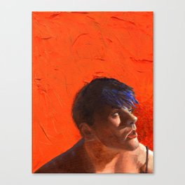 Stormy, Fine Art Oil Painting Portrait Print Canvas Print