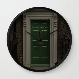 Green Door No Number Wall Clock