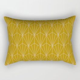 Art Deco Vector in Gold Rectangular Pillow