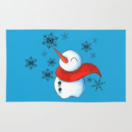 Snowmen and Snowflakes Rug