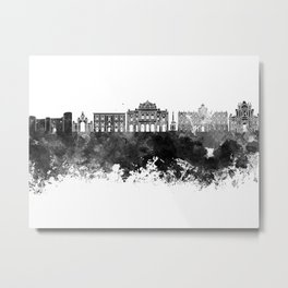 Catania skyline in black watercolor Metal Print
