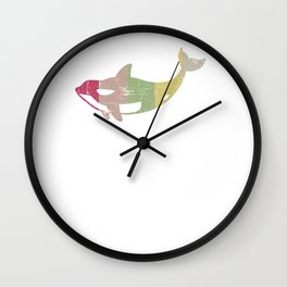 Retro Distressed Killer Whale Design for Orca Lovers Wall Clock