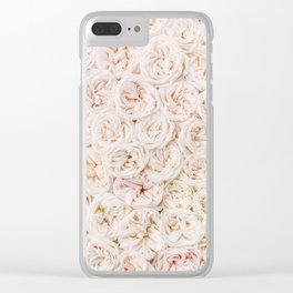 Ivory Rose Clear iPhone Case