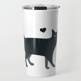 Bombay Cat Cartoon Travel Mug