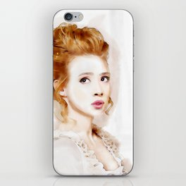 Watercolor of Savannah in Period Outfit and Hair iPhone Skin