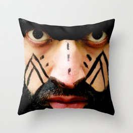 Colombian Tribal Bear Mark Of Courage by Wendy C Vega Throw Pillow