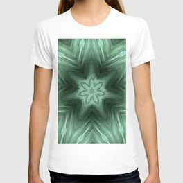 Green Star Flower Blossom Metallic Color #Pattern #Background T-shirt