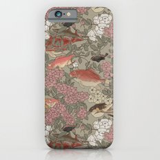Fishes & Flowers - Seamless pattern iPhone 6s Slim Case