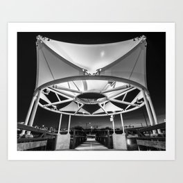 Northwest Arkansas Razorback Greenway Mile 26.0 Canopy - Black And White Edition Art Print