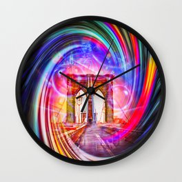 New York Brooklyn Bridge Wall Clock