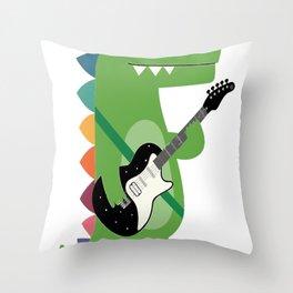 Croco Rock Throw Pillow