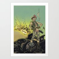 tank girl Art Prints featuring Tank Girl by Vercher_Ink