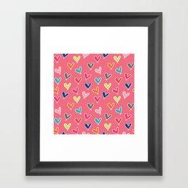 Blow Me One Last Kiss - Pink Framed Art Print