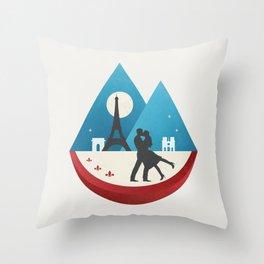 Le Baiser - French Kiss Throw Pillow