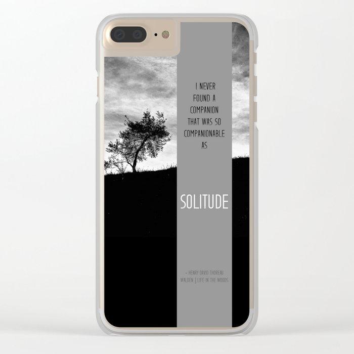 Henry David Thoreau - Solitude Clear iPhone Case