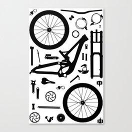 Downhill Bike Parts Canvas Print