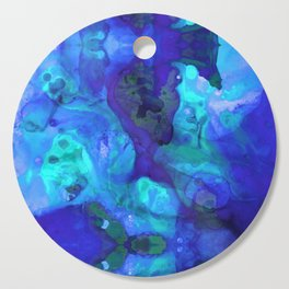 Violet Blue - Abstract Art By Sharon Cummings Cutting Board