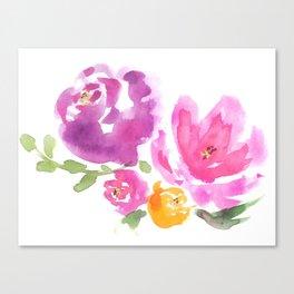 Violet Blooms Canvas Print