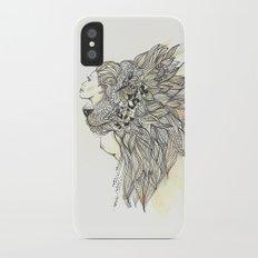 animalia lion Slim Case iPhone X