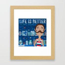 Life is Better...in the Ocean Framed Art Print
