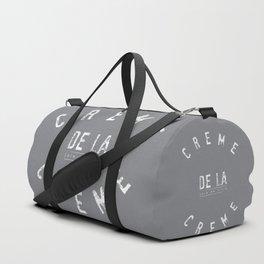 Creme de la Creme - joie de vivre Grey Duffle Bag