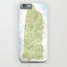 Puerto Rico watercolor map iPhone 6s Slim Case