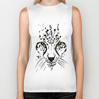 cheetah Biker Tanks featuring Cheetah by Danny