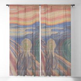 The Scream by Edvard Munch Sheer Curtain