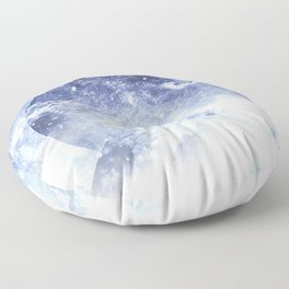 Even mountains get cold Floor Pillow