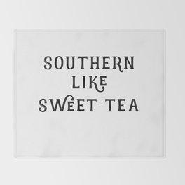 Southern like Sweet Tea Throw Blanket