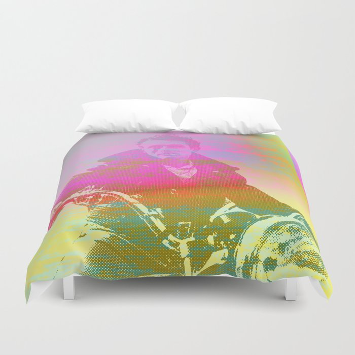 Freedom and Rebel Attitude Duvet Cover
