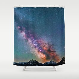 Pastel Galaxy of Mountains (Color) Shower Curtain
