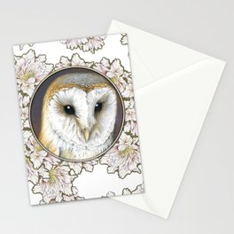 Barn owl small Stationery Cards