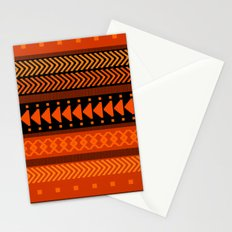 Under the Volcano - tribal geometrics Stationery Cards