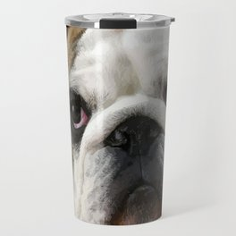 American Bulldog Background Removed Travel Mug