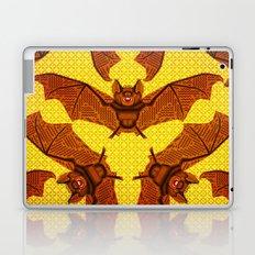 Geometric Bat Pattern - Golden version Laptop & iPad Skin