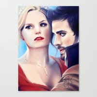 captain swan Canvas Prints featuring Captain Swan by Faerytale-Wings