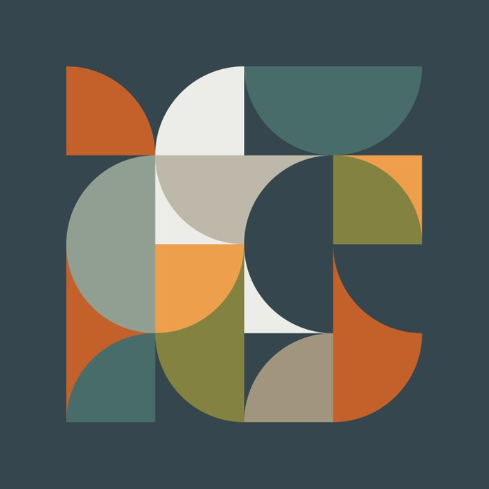 Mid Century Geometric 12/2 Duvet Cover