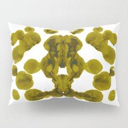 Olive Green Rorschach Test Pillow Sham