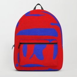 Abstract in Blue and Red I Backpack