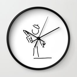 French person Wall Clock