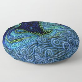 Chinese Azure Dragon Floor Pillow