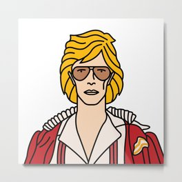 David Bowie – Cracked Actor Metal Print