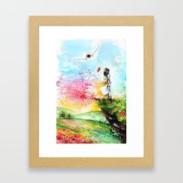 """By the cliff"" Framed Art Print"