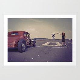 Hot Rod Racing Art Print